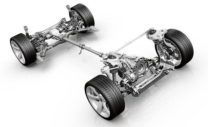 Photo of automotive powertrain.